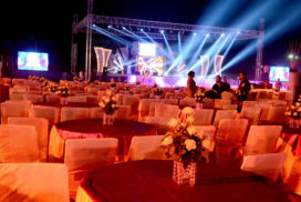 An open air event setup executed by kaamakazi solution - full-service event management company in lucknow